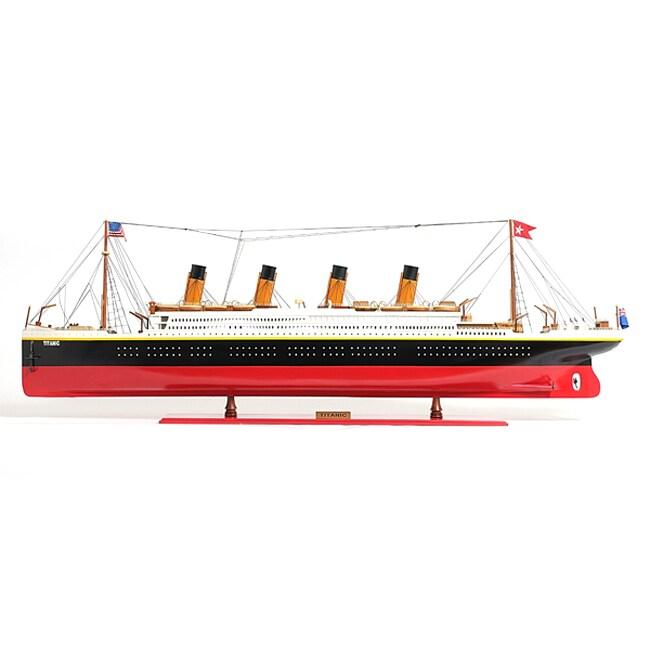 Old Modern Handicrafts Titanic Painted XL Model Boat (Tit...