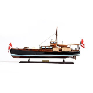 Old Modern Handicrafts Dolphin Painted Model Boat