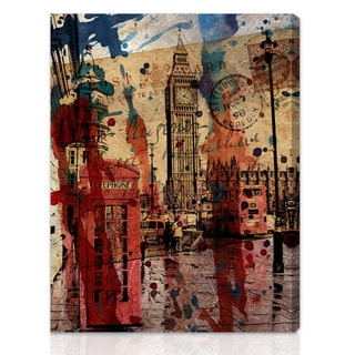Shop Oliver Gal Artist Co London In Red Gallery Wrapped