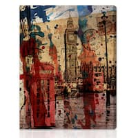 Oliver Gal Artist Co. 'London in Red' Gallery-wrapped Canvas Art