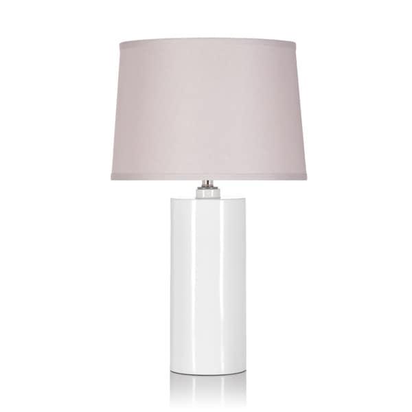 White/ Tan 1-light Table Lamp