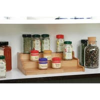 Seville Classics 3-Tier Expandable Bamboo Spice Rack
