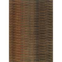 Indoor Brown/ Rust Area Rug - 5'3 x 7'6