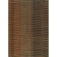 Indoor Brown/ Rust Area Rug - 9'10 x 12'10