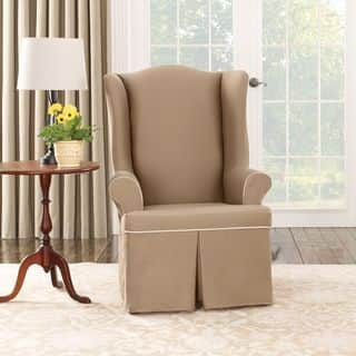 Sure Fit Cocoa Duck Wing Chair Slipcover|https://ak1.ostkcdn.com/images/products/7724196/P15126634.jpg?impolicy=medium