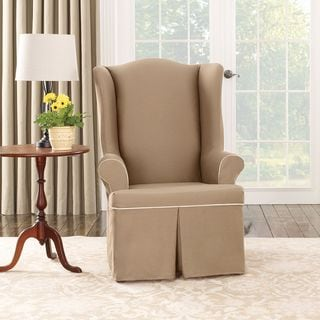 Sure Fit Cocoa Duck Wing Chair Slipcover