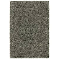 Indoor Black/ Ivory Shag Rug - 9'10 x 12'7