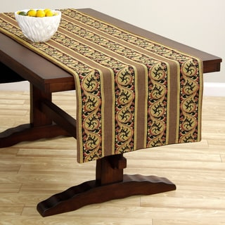 Corona Decor Extra Wide Italian Woven 95 x 26-inch Gold/ Rose Table Runner