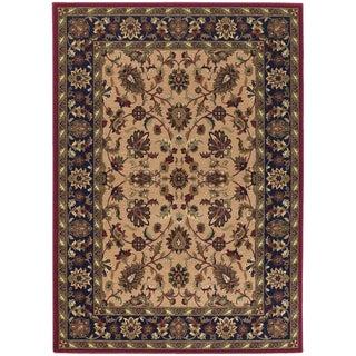 Anatolia antique herati red cream area rug 5 39 3 x 7 39 6 for Plum and cream rug