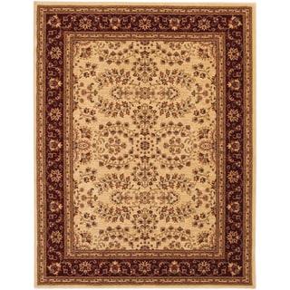 Anatolia Antique Herati/ Cream Red Area Rug (3'11 x 5'6)