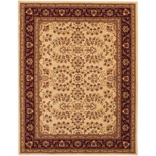 Anatolia Antique Herati/ Cream Red Area Rug (5'3 x 7'6)