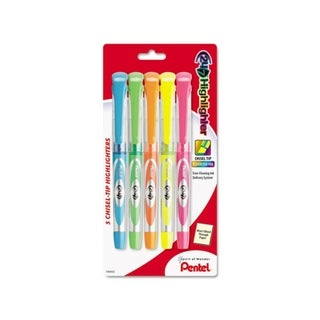 Pentel 24/7 Assorted Ink Chisel Tip Highlighters (Set of 5)