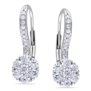 Miadora 14k White Gold 1ct TDW Diamond Earrings