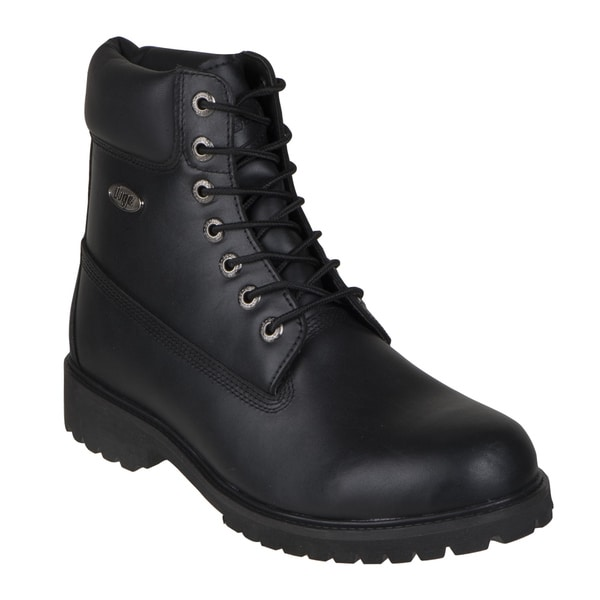 Lugz Men's 'Drifter 6-inch' Black Leather Lace-up Ankle Boots