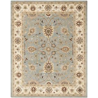 Safavieh Handmade Kerman Light Blue/ Ivory Gold Wool Rug (9'6 x 13'6)