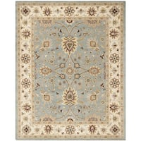 Safavieh Handmade Kerman Light Blue/ Ivory Gold Wool Rug - 9'6 x 13'6