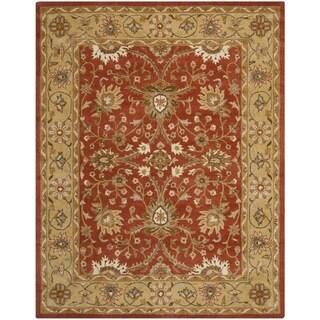 Safavieh Handmade Kerman Rust/ Gold Wool Rug (9'6 x 13'6)