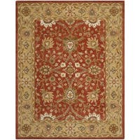 "Safavieh Handmade Kerman Rust/ Gold Wool Rug - 9'6"" x 13'6"""