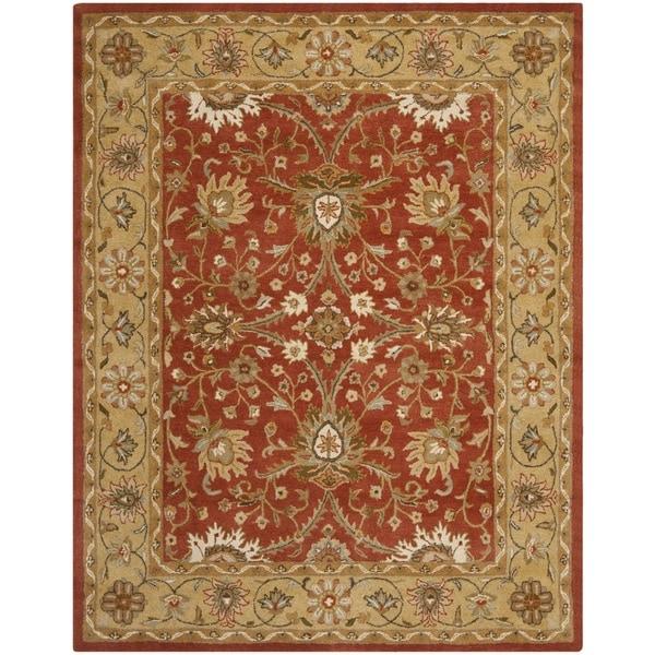 Safavieh Handmade Kerman Rust/ Gold Wool Rug - 9'6 x 13'6