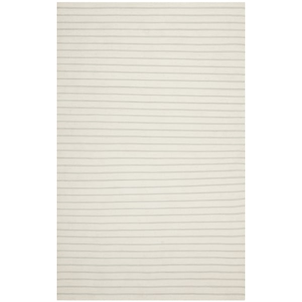 Safavieh Hand-woven Moroccan Reversible Dhurrie White Wool Rug - 8' x 10'