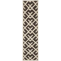 Safavieh Hand-Woven Moroccan Reversible Dhurrie Brown Geometric Wool Rug - 2'6 x 6'