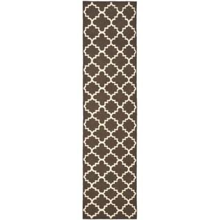 Safavieh Hand-woven Moroccan Reversible Dhurrie Brown Wool Rug (2'6 x 6')