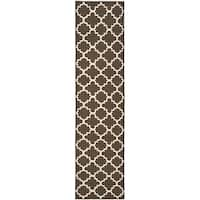 Safavieh Hand-woven Moroccan Reversible Dhurrie Brown Wool Rug - 2'6 x 6'