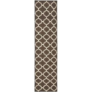 Safavieh Hand-woven Moroccan Reversible Dhurrie Brown Wool Rug (2'6 x 8')