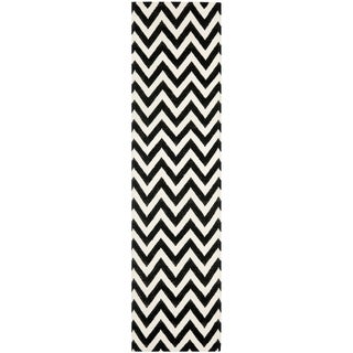 Shop Safavieh Hand Woven Chevron Reversible Dhurrie Black