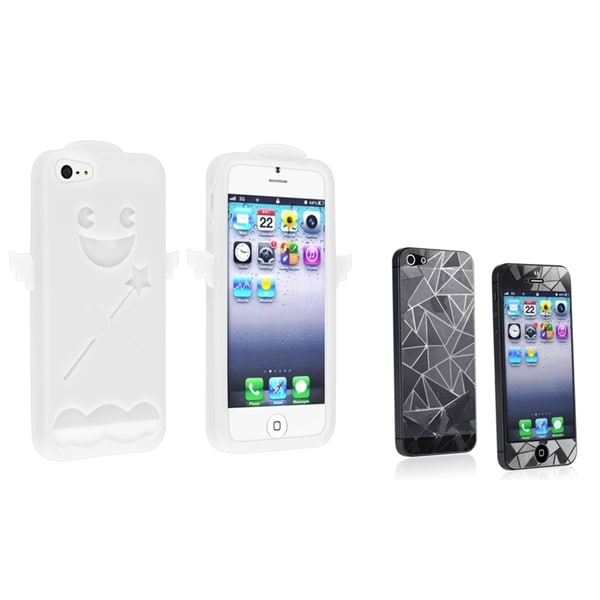 INSTEN Phone Case Cover/ Diamond Blink Screen Protector for Apple iPhone 5
