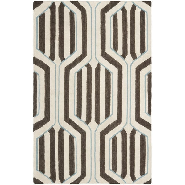 Safavieh Handwoven Moroccan Reversible Dhurrie Ivory Wool Area Rug (8' x 10')