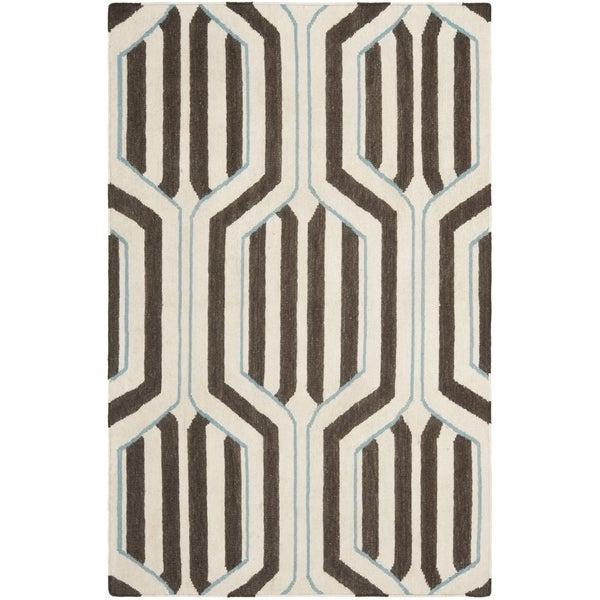 Safavieh Handwoven Moroccan Reversible Dhurrie Ivory Wool Area Rug - 8' x 10'