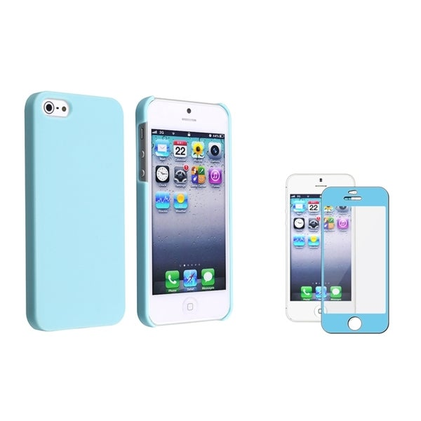 INSTEN Ice Cream Phone Case Cover/ Colorful Frame LCD Protector for Apple iPhone 5