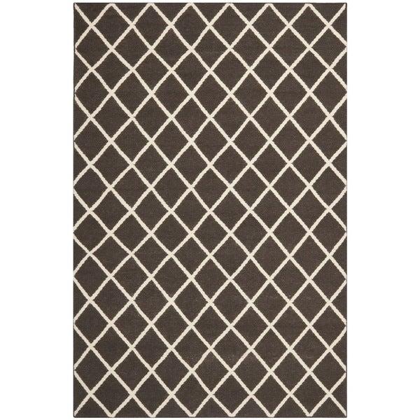 Safavieh Handwoven Moroccan Reversible Dhurrie Brown Wool Area Rug (5' x 8')
