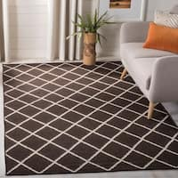 Safavieh Handwoven Moroccan Reversible Dhurrie Brown Wool Area Rug - 8' x 10'