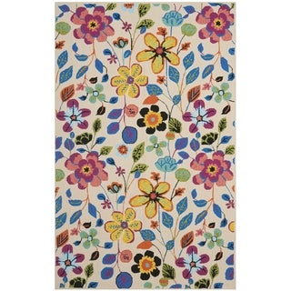 Safavieh Hand-Hooked Four Seasons Colorful Floral Ivory Polyester Rug (5' x 8')