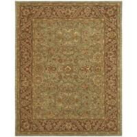 Safavieh Handmade Golden Jaipur Green/ Rust Wool Rug - 9' x 12'