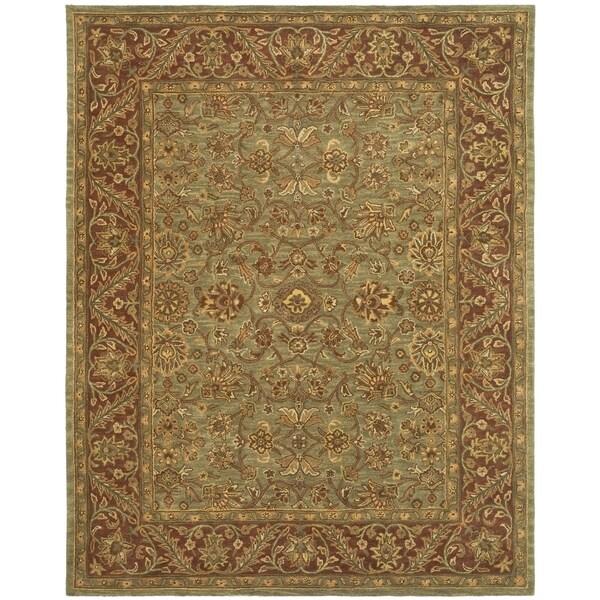 Safavieh Handmade Golden Jaipur Green/ Rust Wool Rug - 9' x 12'