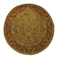 Safavieh Handmade Golden Jaipur Green/ Rust Wool Rug - 5' Round