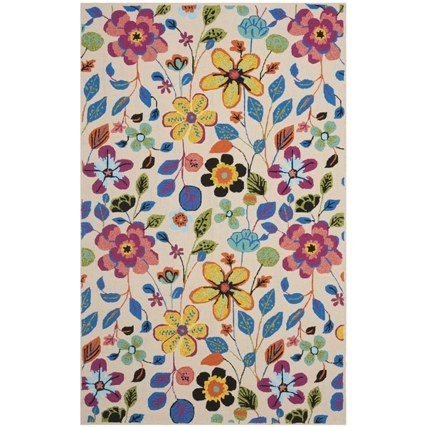 Safavieh Hand-Hooked Four Seasons Colorful Floral Ivory Polyester Rug (8' x 10')