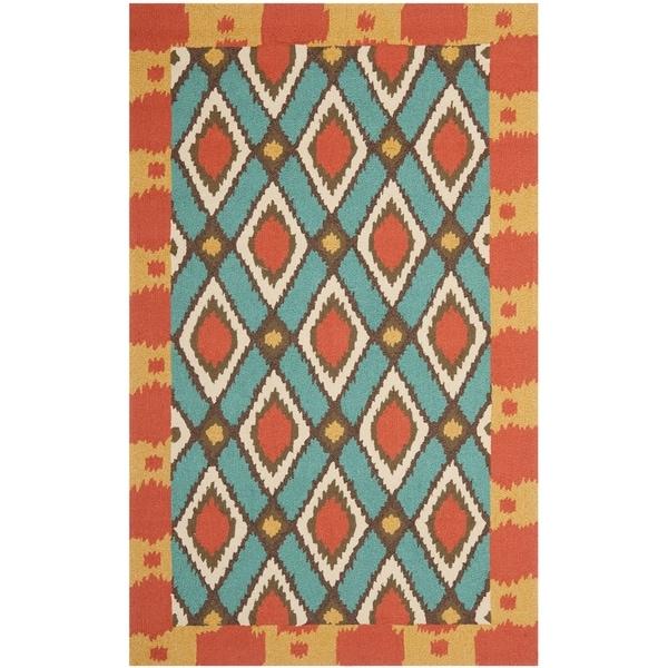Safavieh Hand-Hooked Four Seasons Light Blue Polyester Rug (8' x 10')
