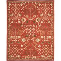 Safavieh Handmade Heritage Timeless Traditional Red Wool Rug - 9'6 x 13'6