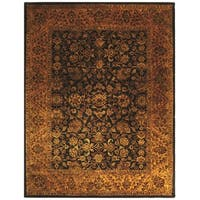 Safavieh Handmade Golden Jaipur Black/ Gold Wool Rug - 9' x 12'