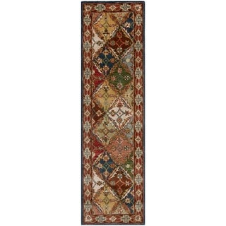 Safavieh Handmade Heritage Traditional Bakhtiari Green/ Red Wool Rug (2'3 x 20')