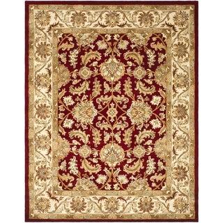 Safavieh Handmade Heritage Traditional Kashan Red/ Ivory Wool Rug (9' x 12')