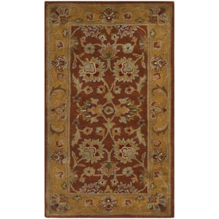 Safavieh Handmade Heritage Timeless Traditional Rust/ Beige Wool Rug (3' x 5')