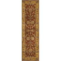 Safavieh Handmade Heritage Timeless Traditional Rust/ Beige Wool Rug - 2'3 x 12'