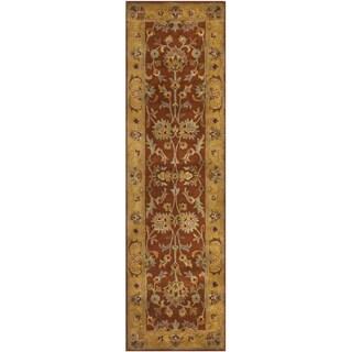 Safavieh Handmade Heritage Timeless Traditional Rust/ Beige Wool Rug (2'3 x 6')