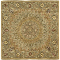 Safavieh Handmade Heritage Timeless Traditional Light Brown/ Grey Wool Rug - 10' x 10' square