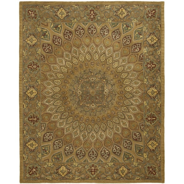 Safavieh Handmade Heritage Timeless Traditional Light Brown/ Grey Wool Rug - 9' x 12'